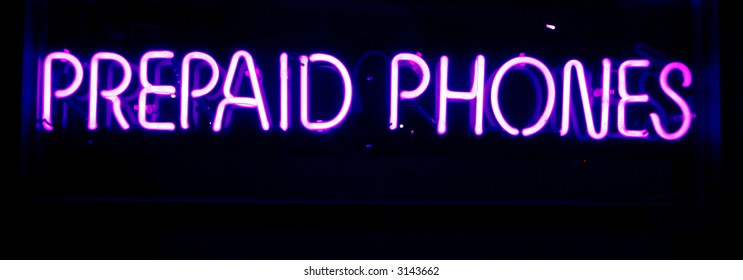 """neon sign series"" ""prepaid phones"""