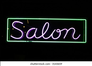 """neon sign series"" salon"