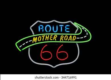 Neon sign, Tucumcari, Route 66, New Mexico, USA. Another  of incredible variety of 66 signs seen along the historic route