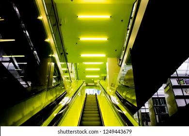 Neon Yellow Stairs