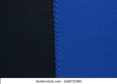 neoprene fabric with stitching in the foreground