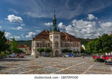 Neo-Renaissance town hall in Tisnov city, Czech Republic - Shutterstock ID 1807099330