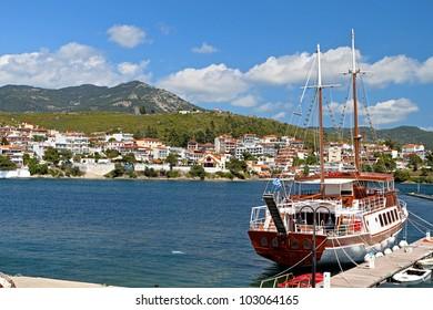 Neos Marmaras summer resort at the Halkidiki peninsula in Greece