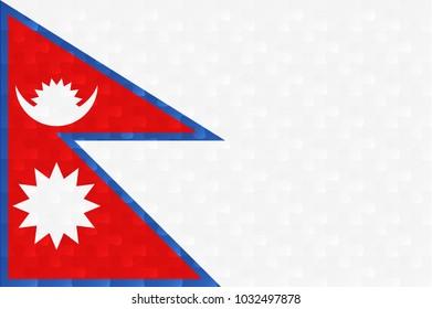 Nepal flag jigsaw puzzles illustration.