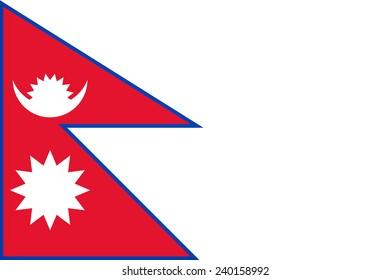 Nepal flag pattern