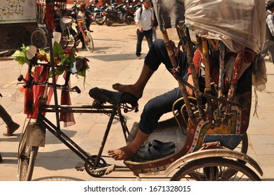 Nepal - Kathmandu, Tuk Tuk Rickshaw in Nepal 2019