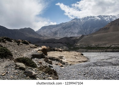 Nepal mountain landscape in Mustang