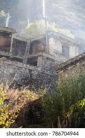 Nepal October 5 2014. Bhraga village, the Annapurna area, Nepal