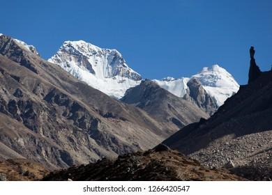 Nepal peak in Kanchenjunga region of Nepal.