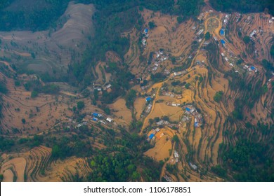 Nepal village air photography