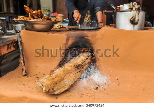 Nepalese kitchen.