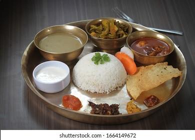Nepali Food, Thakali Khana, Dal Bhaat Tarkari. Delicous, Khana,