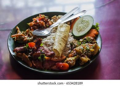 Nepali Newari Khaja Set (Nepali Famous Dish)