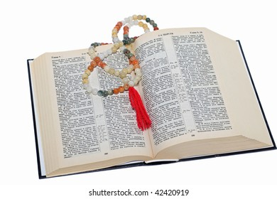 nephritic rosary over an holy bible