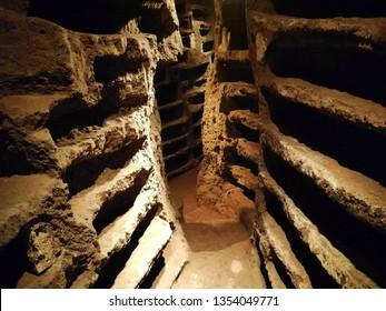 Nepi, Italy - May 20, 2018: catacombs of S. Savinilla