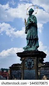 Nepomuk Statue in Charles Bridge, Prague