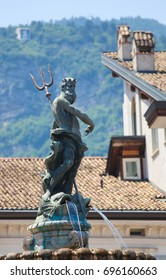 Neptune Fountain (1767) on the Piaza Duomo in Trento, Trentino, Italy