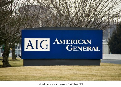 NEPTUNE, NJ - MARCH 20: AIG sign in front of the AIG building in Neptune, NJ on March 20, 2009. AIG has taken $170 billion in federal bailout funds but paid out millions in executive bonuses.