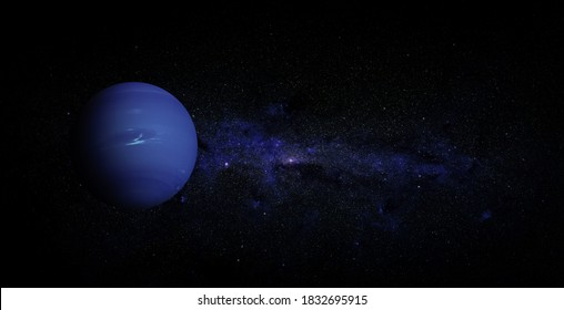 Neptune on space background. Elements of this image furnished by NASA.