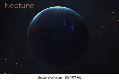 Neptune. Realistic planets of Solar system. Elements of this image furnished by NASA