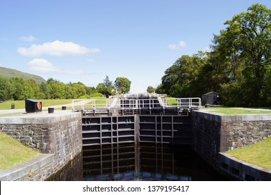 Neptune's Staircase lock on the Caledonian canal in Scotland