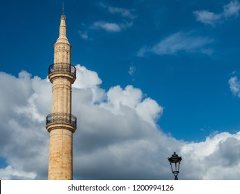 The Neratze (or Gazi Hussein) Mosque in Rethymno, Crete island, Greece