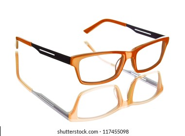 f7a61279f2fe Nerd glasses isolated on white background