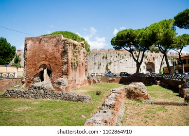 Nero Baths ruins in Pisa. The Baths of Nero (Italian - Bagni di Nerone) are an archaeological site near the Porta a Lucca in Pisa, then the Roman city of Colonia Pisana. - Travel Destination
