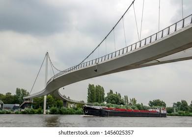 Nesciobrug Bicycle Bridge At Diemen The Netherlands 2019