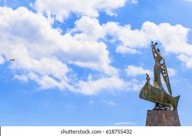 NESEBAR, BULGARIA - JULY 18, 2016: Statue of St. Nicholas in South Nessebar Bay, Nessebar, Bulgaria, Black Sea, Europe - Shutterstock ID 618755432