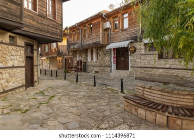 NESEBAR, BULGARIA - JUNE 6, 2018: Nesebar (or Nessebar) is an ancient city and one of the major seaside resorts on the Bulgarian Black Sea Coast, located in Burgas Province.
