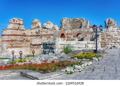 NESEBAR, BULGARIA - September, 14, 2018: Nesebar (often transcribed as Nessebar) is an ancient city and one of the major seaside resorts on the Bulgarian Black Sea Coast, located in Burgas Province