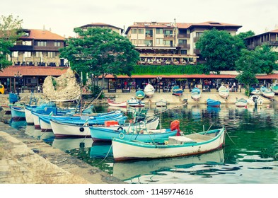 nesebar old town boats