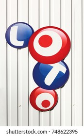 Nespouls, France - June 6, 2017: French loto logo on a wall. Française des Jeux also called FDJ is the operator of the loto game in France