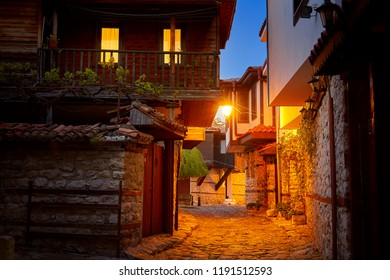 Nessebar old town at evening, Bulgaria