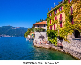 NESSO, ITALY - AUGUST 26, 2018: View of the picturesque village of Nesso on the Lake of Como.