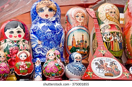 Nesting dolls at the Red Square, Moscow, Russia