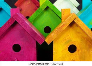 Nesting for Peace birdhouses