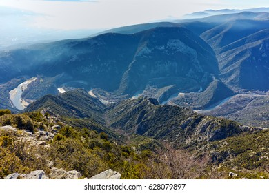 Nestos Gorge near town of Xanthi, East Macedonia and Thrace, Greece - Shutterstock ID 628079897