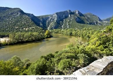 Nestos river at Thrace, Greece