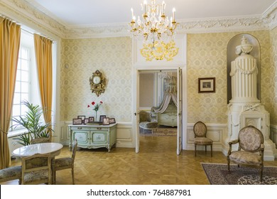 Nesvizh,Belarus-August 5,2017:The Hall «The Radziwills Phot Album»(The Former Princess Bedroom) used for Prince and Princess Children, in Nesvizh Historical and Cultural Museum-Reserve,in August 5,20