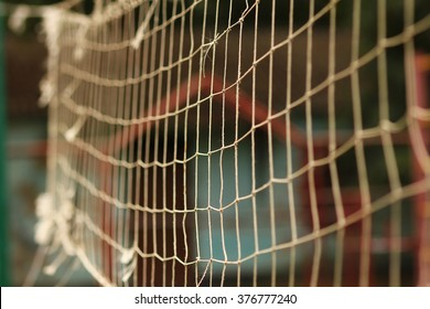 a Net background for the game of volleyball