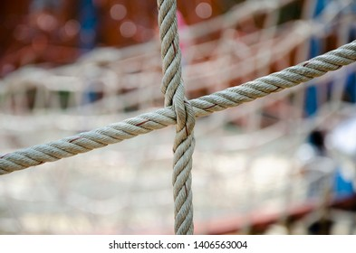 net of rope for safety in playground