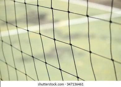 Net volleyball closeup
