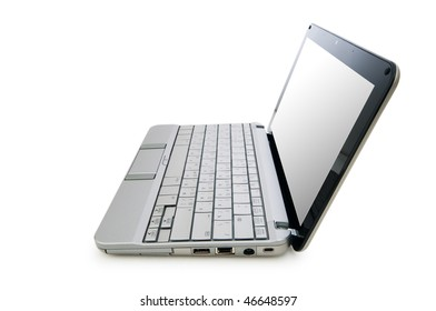 Netbook isolated on the white background