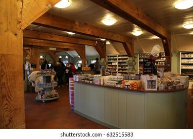 The NETHERLANDS - 14 APR: Cheese Shop in Zaandijk Zaanse Schans in the Netherlands on 14 April 2017
