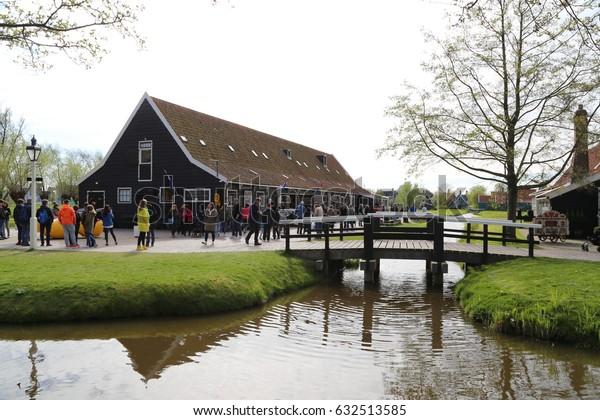 The NETHERLANDS - 14 APR: Zaandijk Zaanse Schans in the Netherlands on 14 April 2017