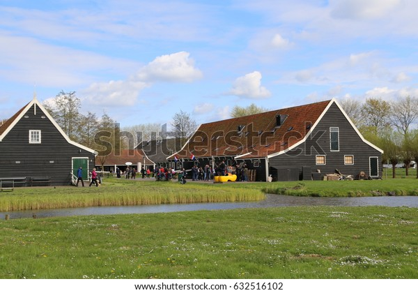 The NETHERLANDS - 14 APR: Zaandijk Zaanse Schans in the Netherlands on 14 April 2017