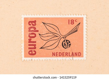 THE NETHERLANDS 1960: A stamp printed in the Netherlands shows the Netherlands and it's place in Europe, circa 1960