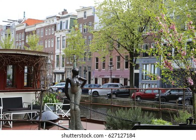 The NETHERLANDS - 8 APR: Prinsengracht in Amsterdam, the Netherlands on 8 April 2017